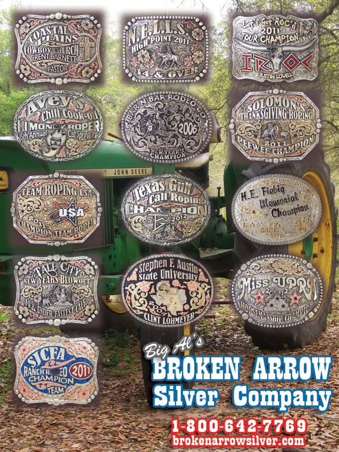 February Broken Arrow Silver Company Rodeo Buckles, Crowns, and more