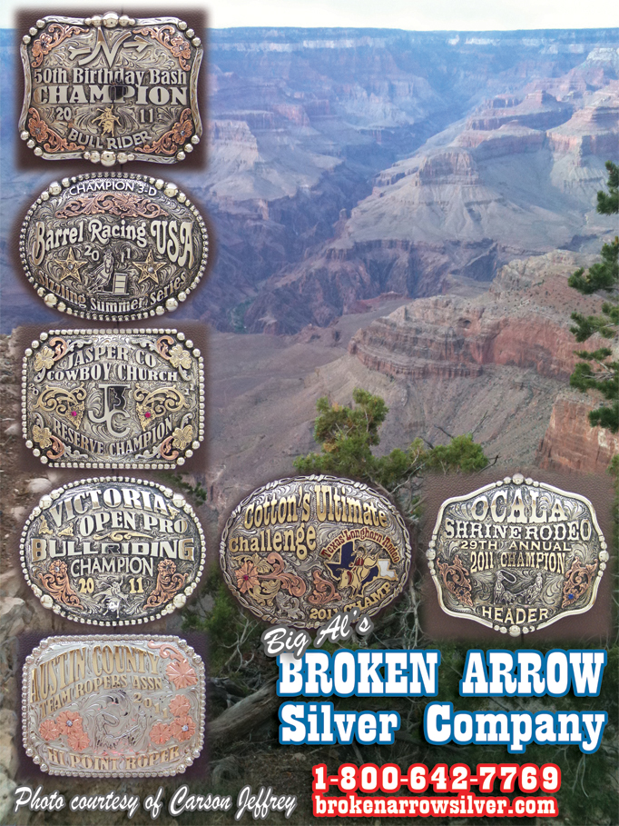 September 2011 Broken Arrow Silver - Rodeo Buckles, Custom Trophy Buckles
